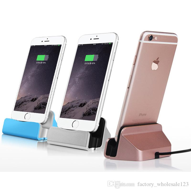 Cell Phone Chargers Dock Chargers for Type-C microV8 ios Charging dock Android interface base ipad tablet mobile phone charger 075