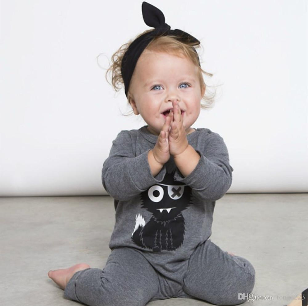 New baby rompers baby boy clothing cotton newborn baby girl clothes long sleeve cartoon infant newborn jumpsuit