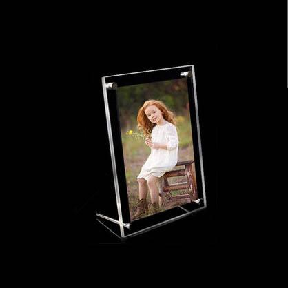 2018 Gt3156 5inch 5x35 Free Standing Acrylic Picture Frames With