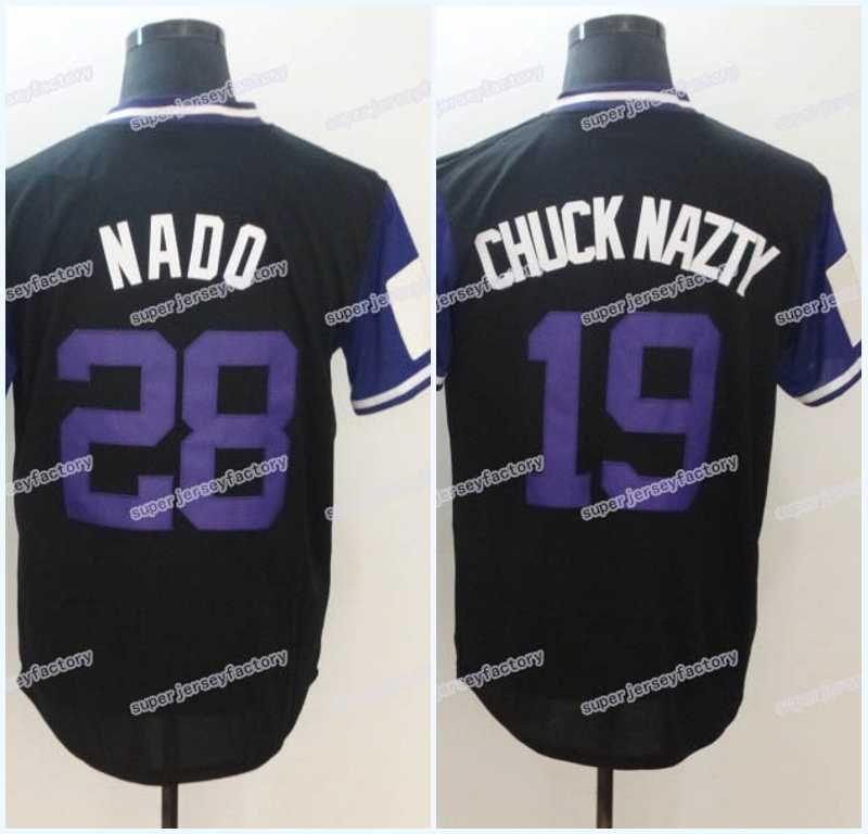 buy online 9d876 07d92 Men 2018 Players Weekend Jersey 19 Charlie Blackmon Chuck Nazty 28 Nolan  Arenado Nado High Quality Free Shipping Baseball Jerseys