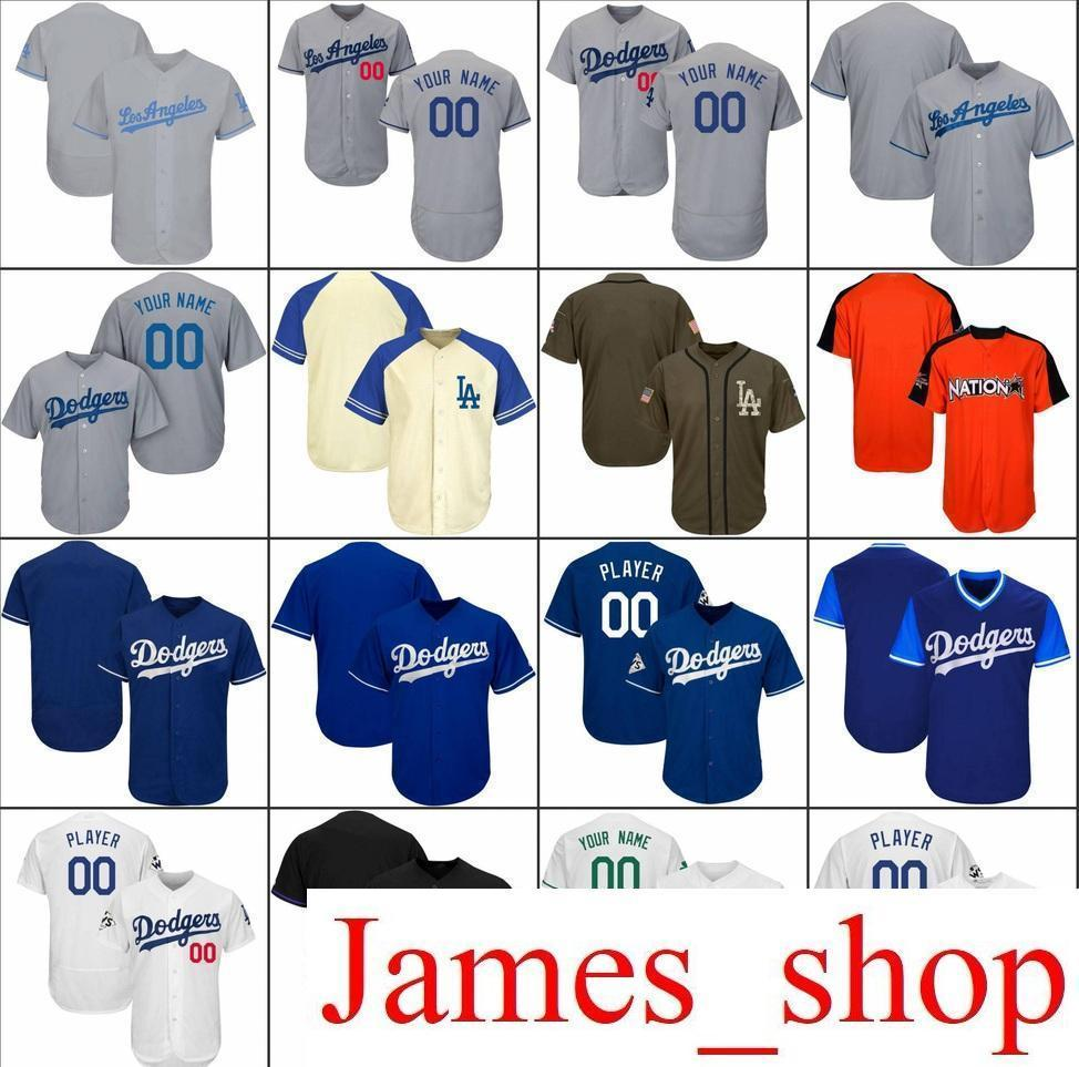 2019 2019 Custom Men Womens Youth LA Dodgers Baseball Jerseys White Gray  Black Cream Blue Stitched Any Name Any Number Flex Base Cool Base Jersey  From ... 54d508922
