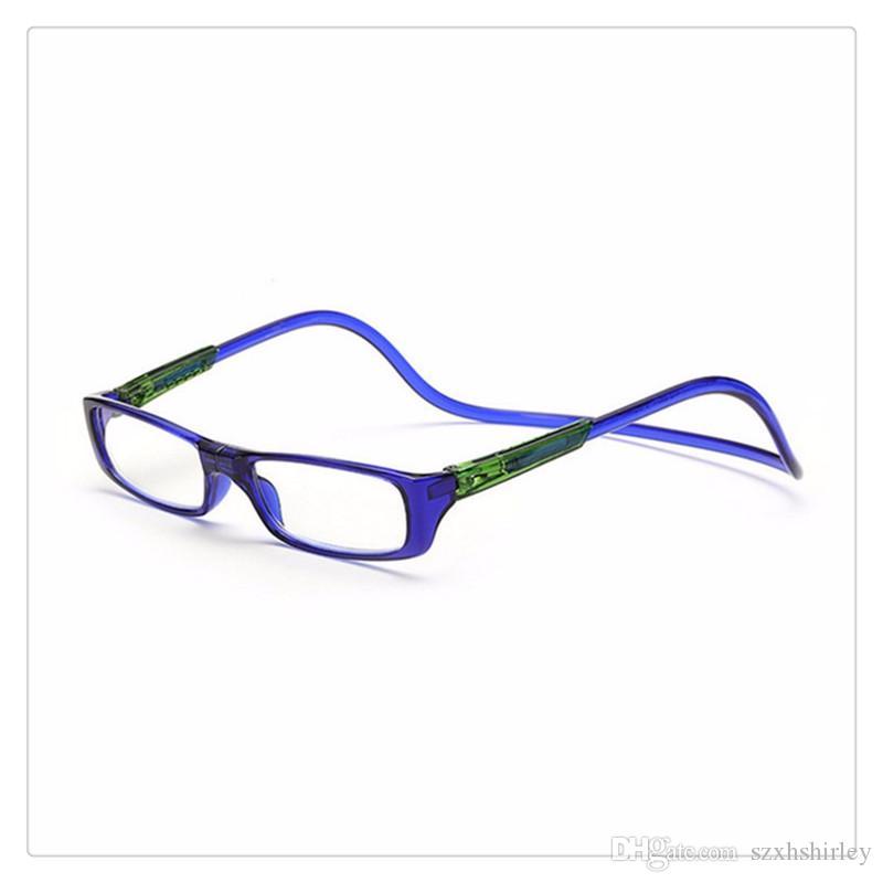 64142797f6 Compre Unisex Imán Gafas De Lectura Hombres Mujeres Gafas Coloridas Unisex  Ajustable Cuello Colgante Frente Magnético Gafas De Presbicia Cuidado De La  ...