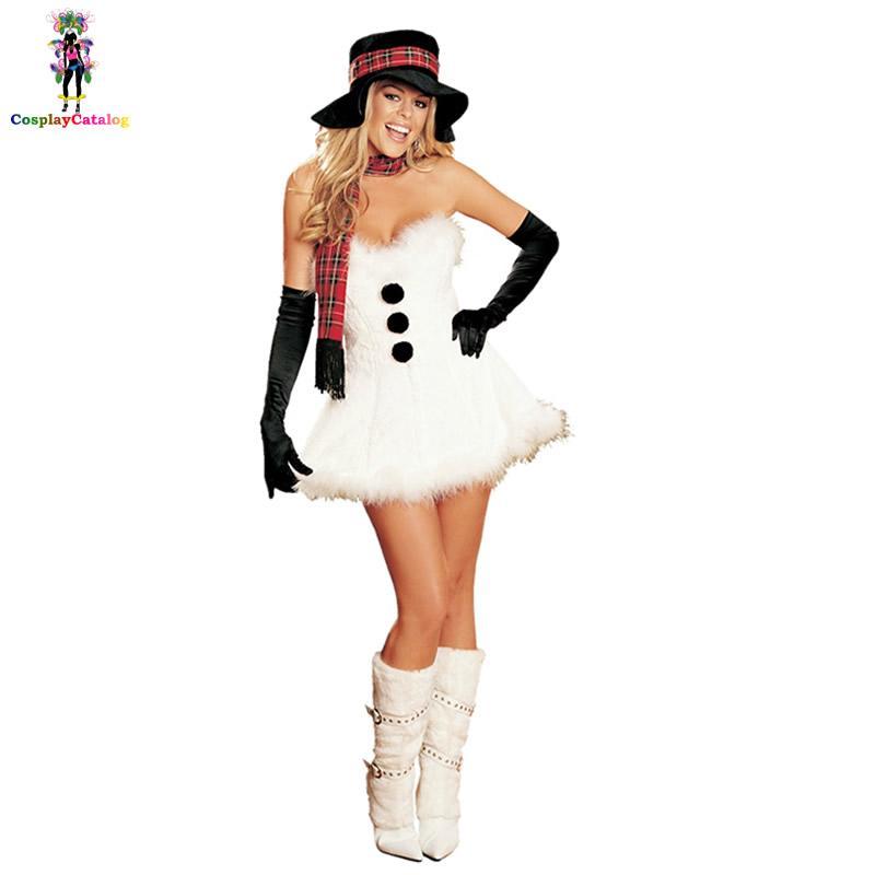 fc7806a4a4f Lolita White Cos Bandeau Dresses Christmas Princess Costume Santa s ...