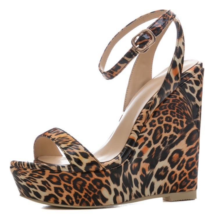 e26d9e4f2233 Wedge Women Sandals Zapatos Muer Fashion Leopard Summer Platform Shoes Sexy  Buckle Strap Women Gladiator Sandals Sandalias Canada 2019 From Yigu009