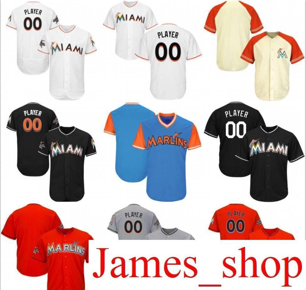0f0f1966a 2019 2019 Custom Mens Womens Youth Marlins Baseball Jerseys White Navy Grey  Blue Red Stitched Any Name Any Number Flex Base Cool Base Jersey From  James_shop ...