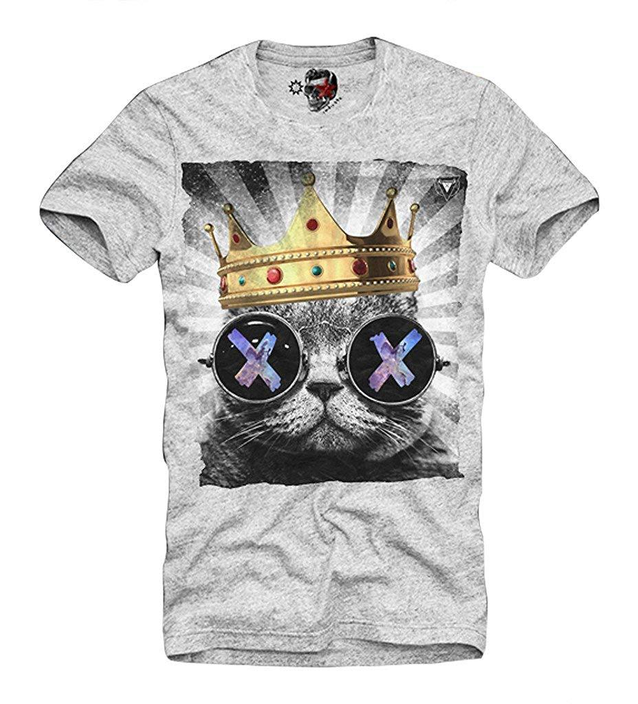 b707e11f E1SYNDICATE T Shirt Hipster Cat Wasted Youth Eleven Ecstasy XTC Grey S XL  Mens 2018 Fashionable Brand 100%cotton Comfortable T Shirt Tshirt Designs T  Shirt ...