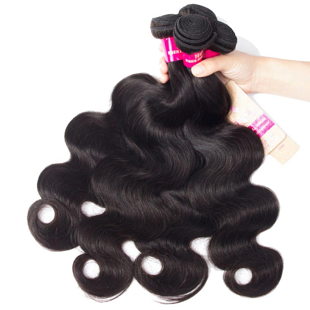 8A Vizon Brezilyalı Vücut Dalga Düz Gevşek Dalga Kinky Kıvırcık Derin Dalga Saç Dantel Kapatma Malezya Peru Brezilyalı Saç Dokuma Paketler