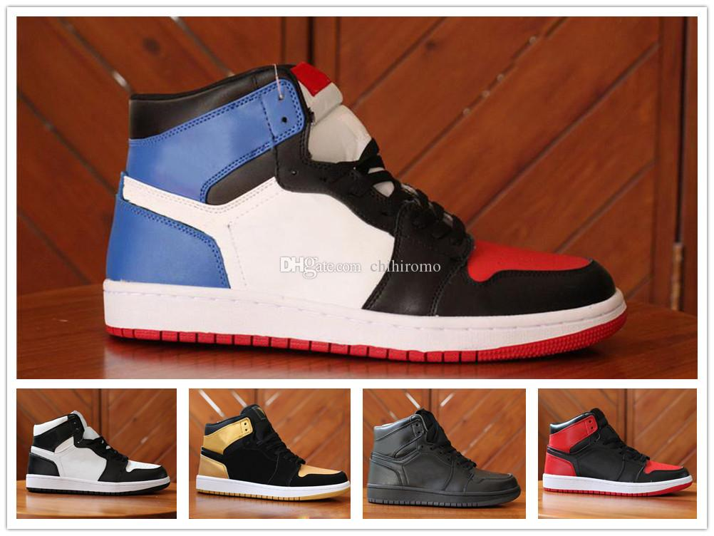 reputable site 3f2a4 8e9c2 Acheter Nike Air Jordan Aj1 2018 High OG 1 Top 3 Hommes Chaussures De  Basketball Blé Or Bred Toe Chicago Banni Fragment Bleu Royal UNC Rebel  Rouille Rose ...