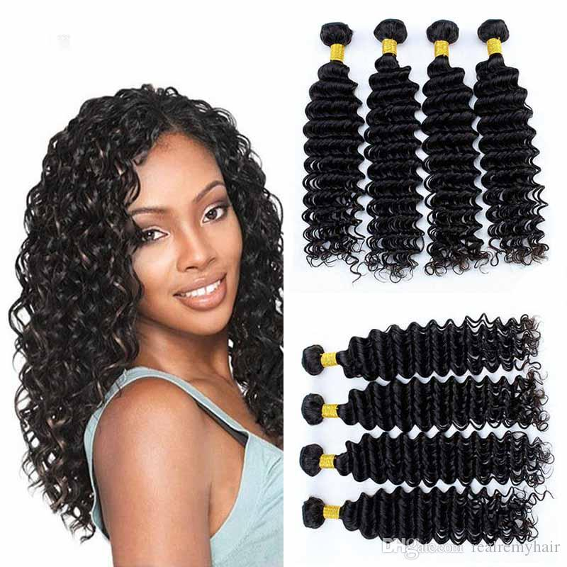 Passion Hair Vendors Brazilian Deep Wave Human Hair 4 Bundles Wholesale  100% Virgin Human Hair Weave Extensions Natural Color Human Hair Weaves 100  Human ... 25efd1ea4d