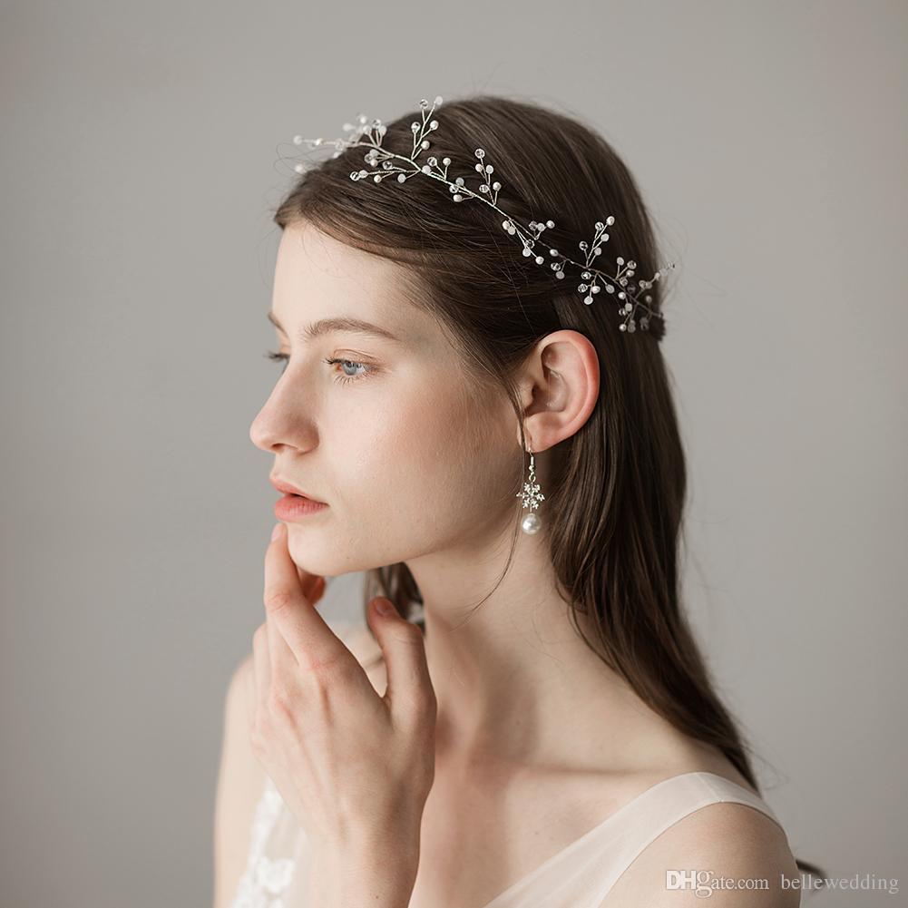 09f8dc2d282f 2018 Свадебные повязки аксессуары для волос со снежинками стразы женщины  украшения для волос свадебные диадемы свадебные повязки  HP361