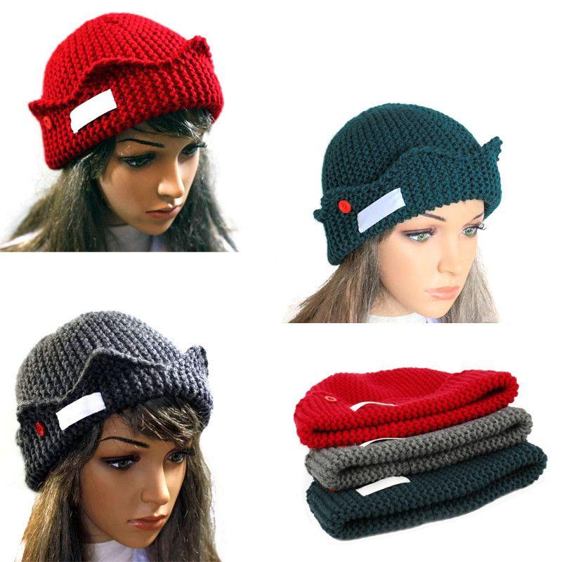 Women Accessories Beanie Autumn Winter Soft Warm Knitted Beanies Cap ...