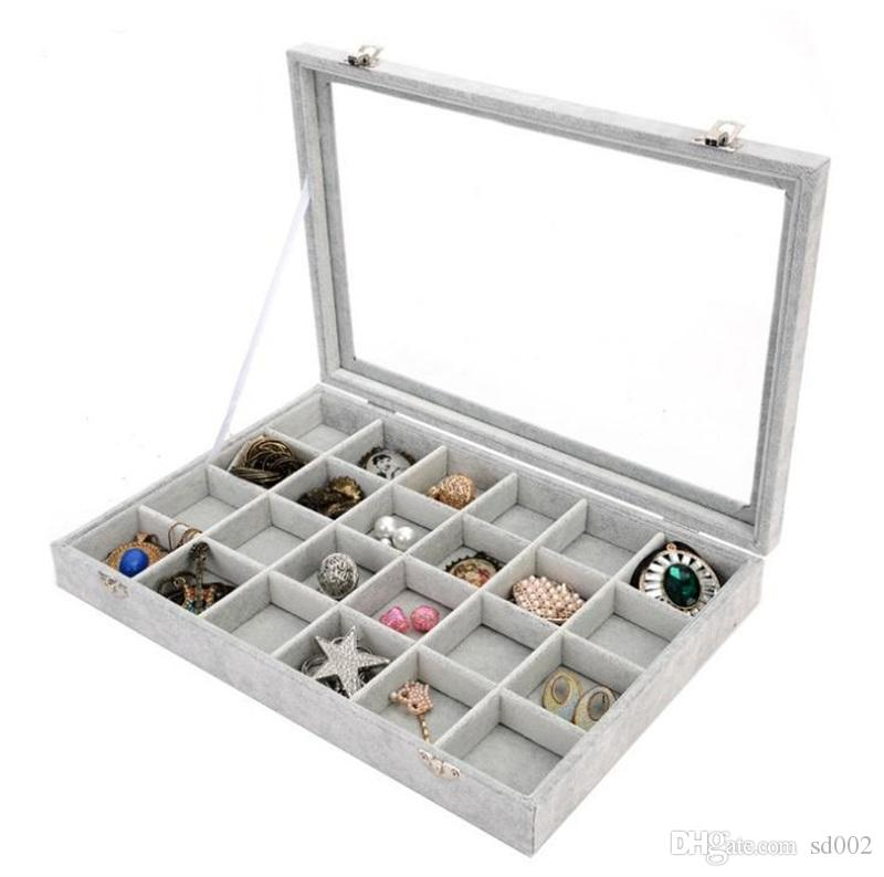 Ice Floral Cashmere Transparent Belt Cover Jewelry Display Box Ring Earring Necklaces Makeup Holder Case Jewellery Boxes 26 5yc gg