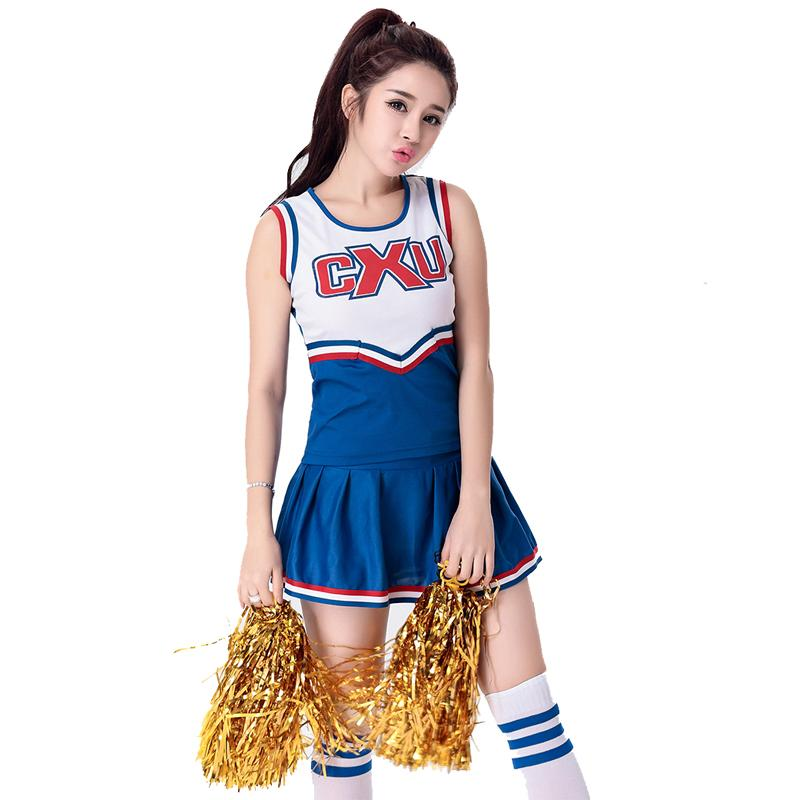 2018 Sexy School Girl Costume Moonight Sexy High School Cheerleader Costume Cheer Girls Uniform Party Outfit Tops With Skirt From App Dhgate
