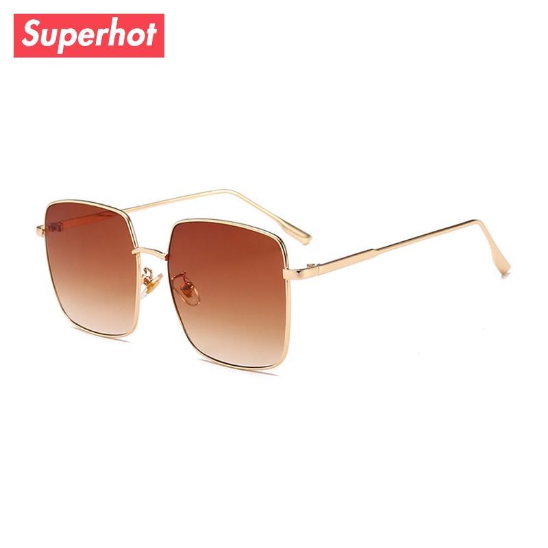 Großhandel Superhot Square Sonnenbrille Frauen Marke Designer Rosa ...