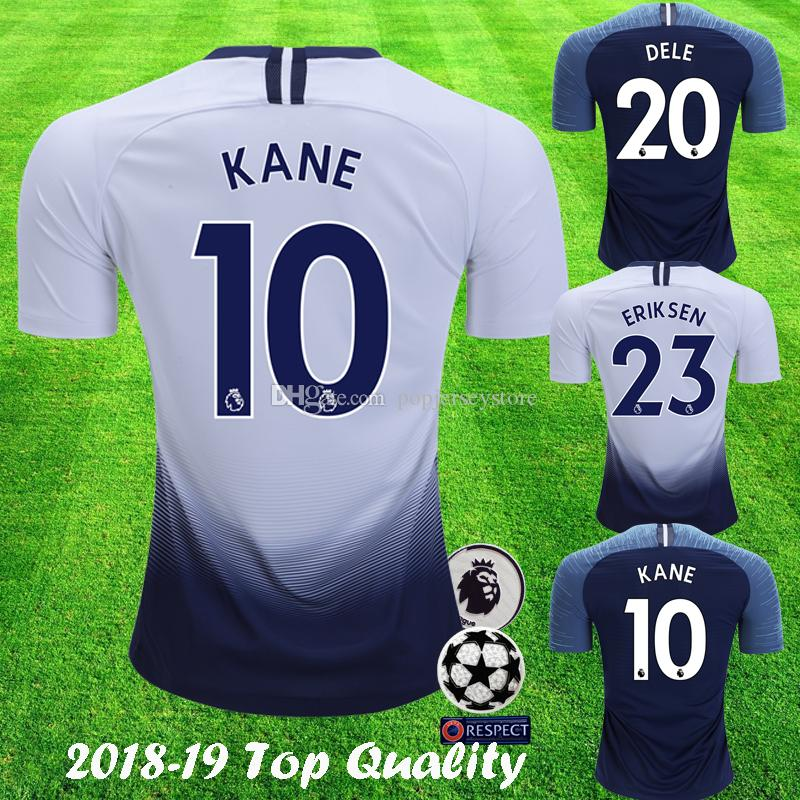 002ffd71be Compre 2018 2019 Supreme Tottenham Hotspur Novo KANE ERIKSEN Futebol Jersey SUA  Camisa DELEGADO DELEGADO DELE 18 19 Esporas Futbol Camisa De Futebol Jersey  ...