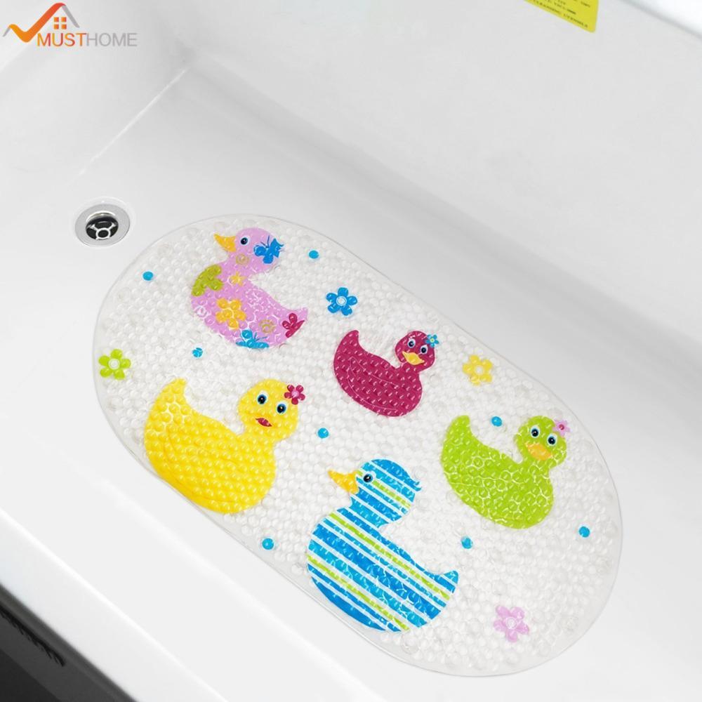 2018 39cmx69cm Baby Bath Mat Anti Slip Pvc Cartoon Bathmats Tub Mat ...