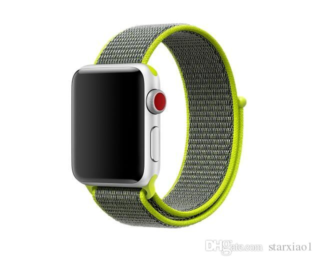 sport woven nylon loop strap for apple watch band 40/44mm 38mm/42mm wrist braclet belt fabric-like nylon band for iwatch 4/3/2/1