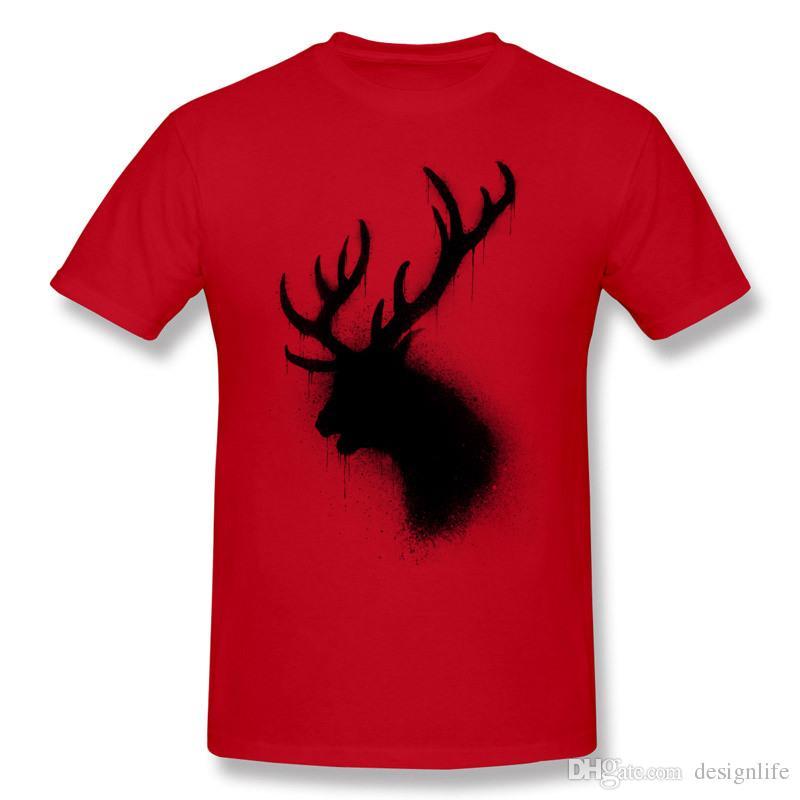 Melhor escolha dos homens de algodão puro cervo escuro t-shirt dos homens crewneck orange shorts t-shirt extra grande tamanho verão t-shirt
