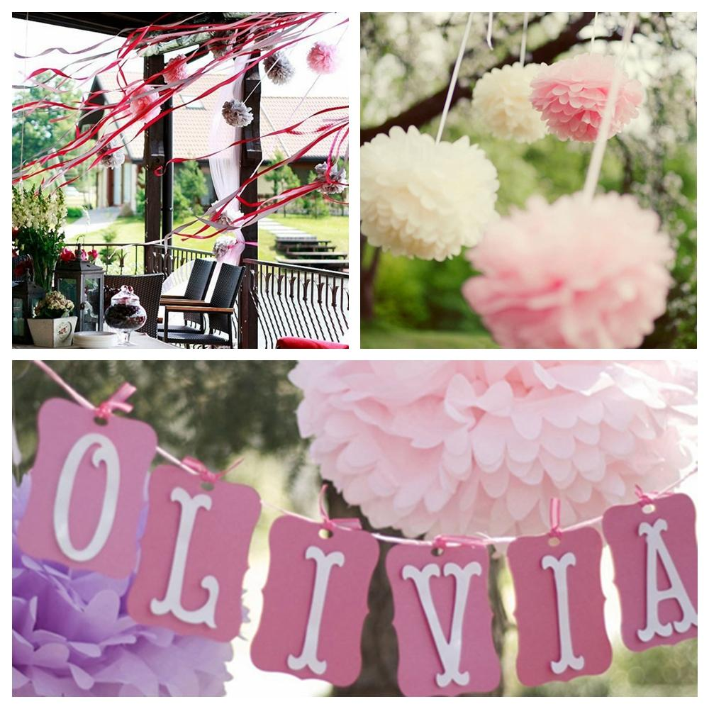 2018 4multi Colour Tissue Paper Pompom Balls Paper Flowers Home