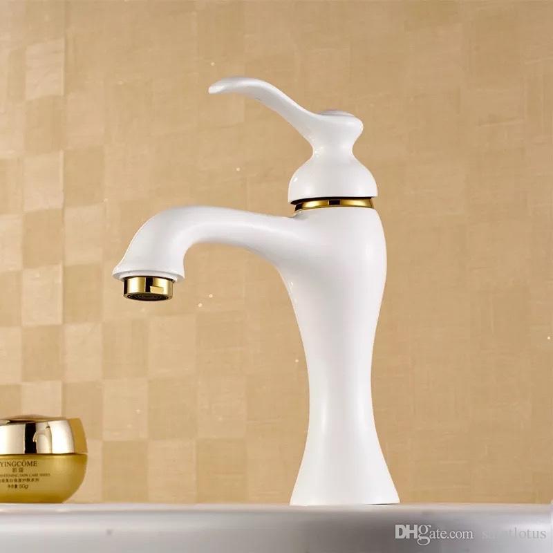 GrifoCascada Grifo De Baño Vanity Faucet Retro Agujero De Un Orificio Mezclador Grifo Para Lavamanos De Baño Vanity Fregadero Suministros de limpieza y saneamiento
