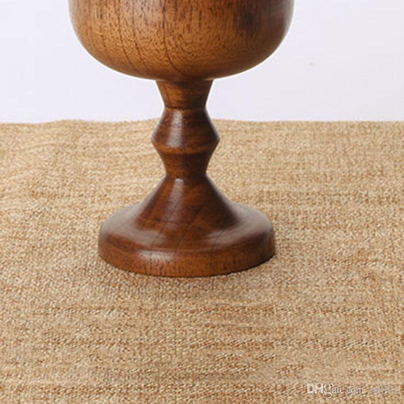 Copas de vino natural Copa de madera creativa Viaje portátil Portátil Té de té de leche Copa de cerveza de alta calidad 13 5xw xc
