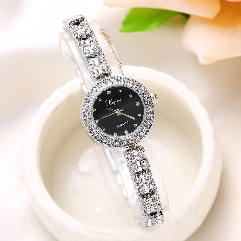 2de877d5714 Fashion Ladies Women Watch Unisex Stainless Steel Rhinestone Quartz Wrist  Watch Luxury Brand Bracelet For Women Horloge Best Deal On Watches Watches  Deal ...