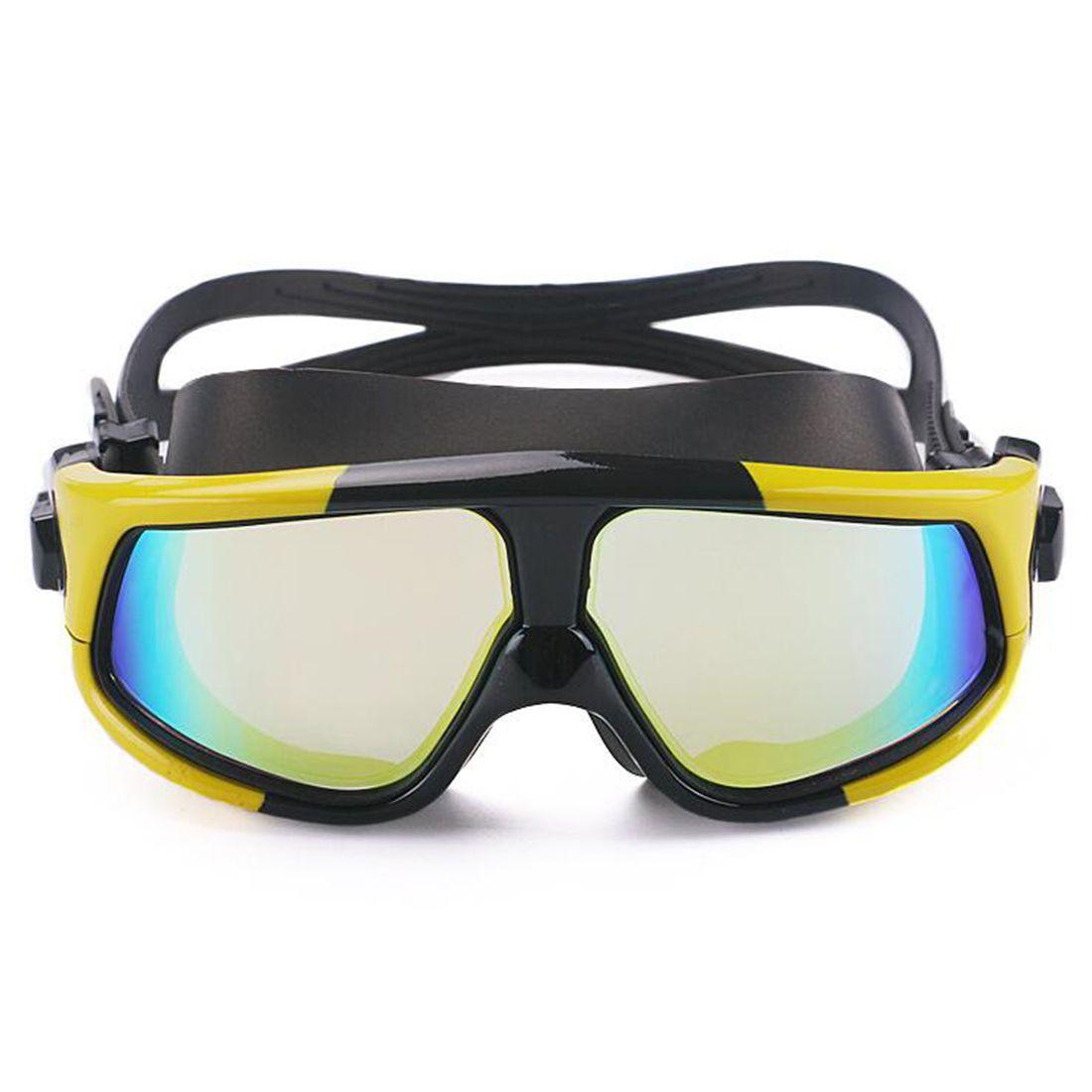 4207d33f251 2018 Comfortable Silicone Large Frame Swim Glasses Swimming Goggles ...