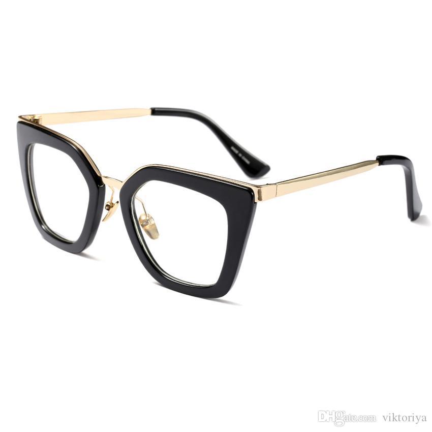Women Glasses Frame Branded Black Designer Women Eyewear Frames Men ...
