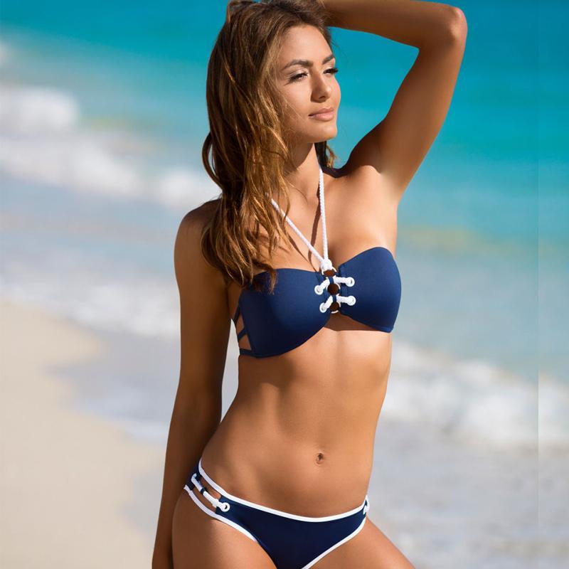a639835e27ee Compre Na Venda Biquínis Das Mulheres 2018 Sexo Banho Swimwear Feminino  Partida Praia Pode Bandeau Bikini Biquíni Conjunto Swimsuit Maiô De  Linyoutu1, ...