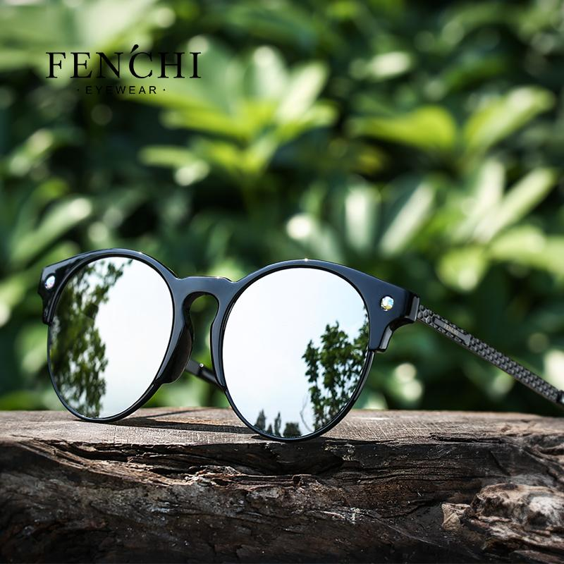3a861c8e26b X FENCHI TR90 Metal Women Diamant Sunglasses Plane Lens High Quality ...