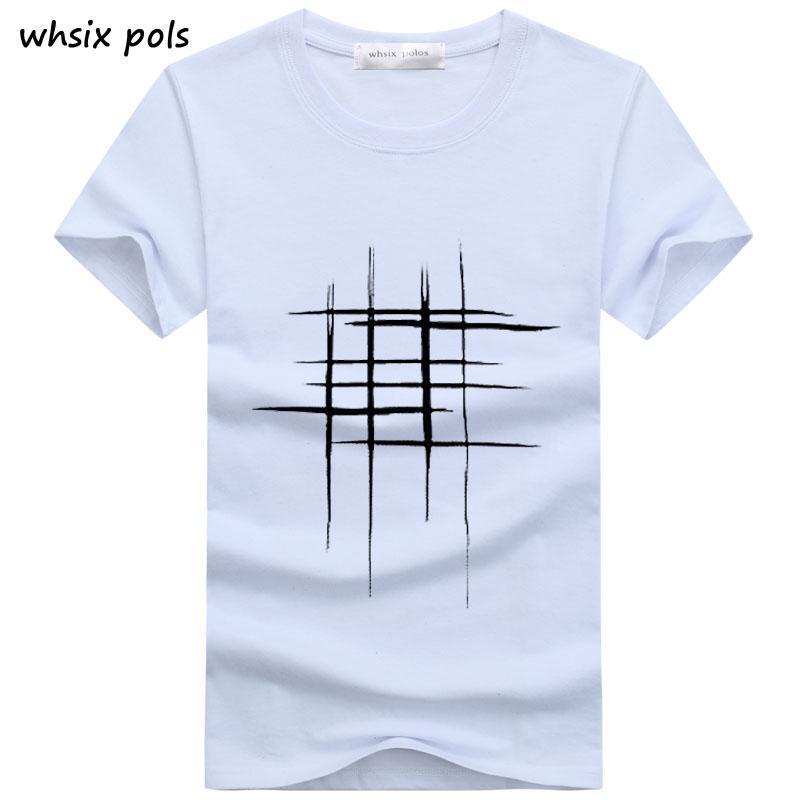 52634b8f0 New Arrival Summer Men T Shirt Style Short Sleeve Simple Creative Design  Disorder Box Cross Word Print Cotton Men Brand Tee Tie Shirts Latest T Shirt  ...
