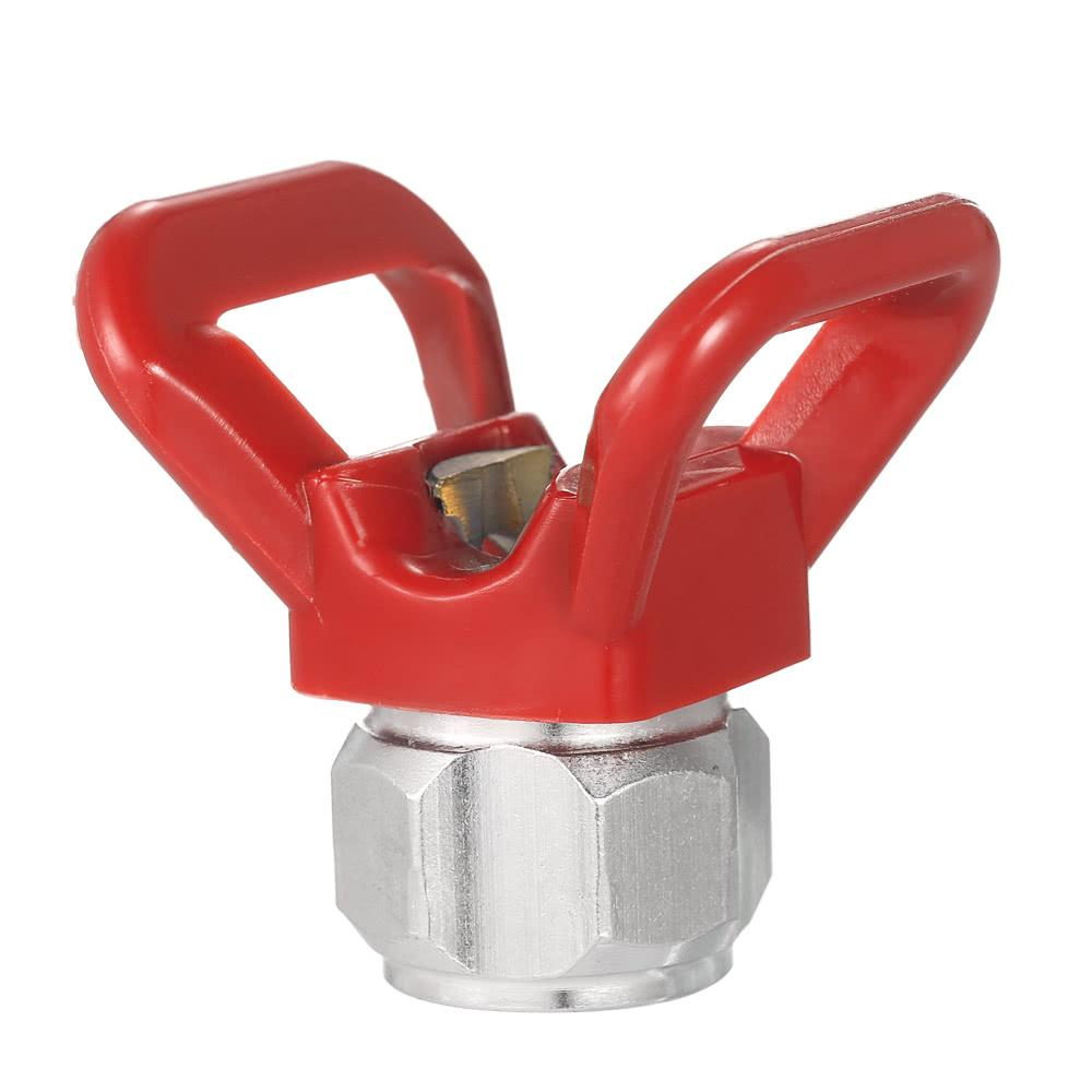 Spray Paint Accessory Universal Tool Airless Paint Spray Gun Red Flat Tip  Nozzle Guard Seat For WorldWide Brands Protector de punta plana