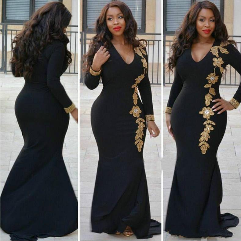 Perfect Beads Long Sleeve Chiffon Evening Dresses Plus Size Arabia Vestidos De Festa Long Party Dress Prom Formal Pageant Celebrity Gowns