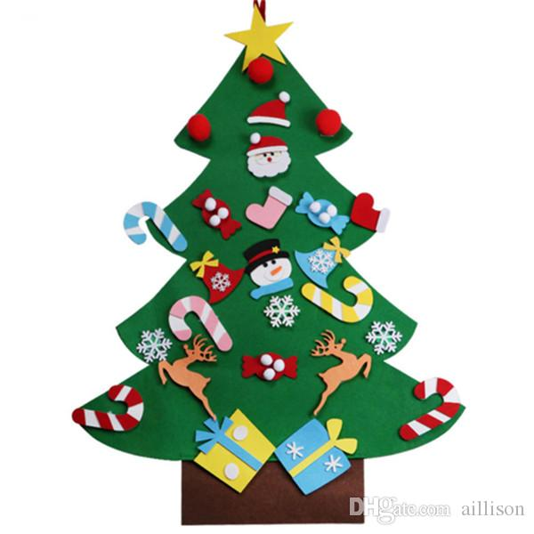 hot style felt christmas tree decorations deluxe decorated childrens toy diy christmas tree handmade customized design ornaments christmas decor shopping