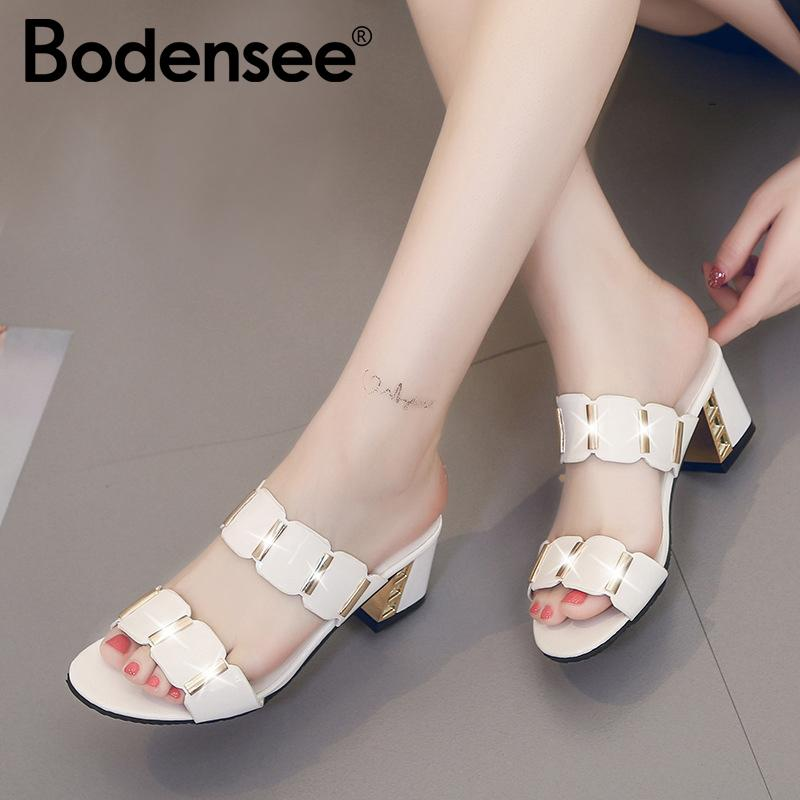 8d6866928420 BODENSEE Women Flat Slippers Sandals Flat Platform Sandals Shoes Slip On  Leather Suede Slides Flip Flops For Women Girls Shoes Bearpaw Boots From  Tinypari