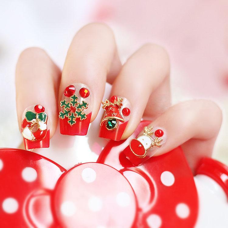 24 Sheets Christmas Theme Cute Stickers For Bent Nails Treatment ...
