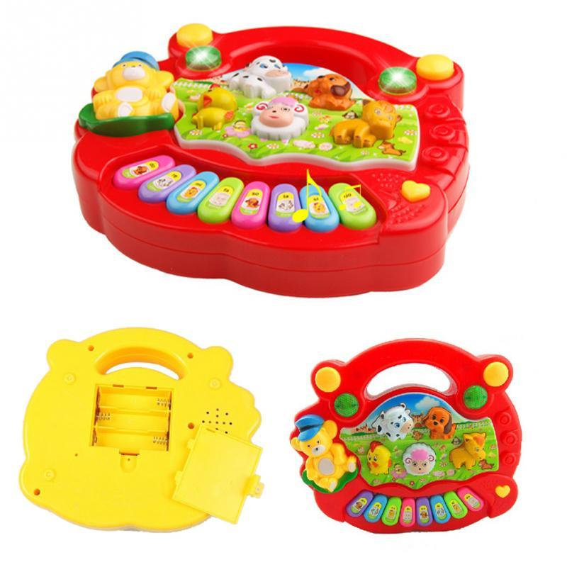 6c8459fb9db6 Piano Musical Toys For Baby Kids Animal Farm Keyboard Electrical Piano  Child Musical Toy Random Color  45 Toy Cell Phone For Infants Baby Toy Cell  Phone ...