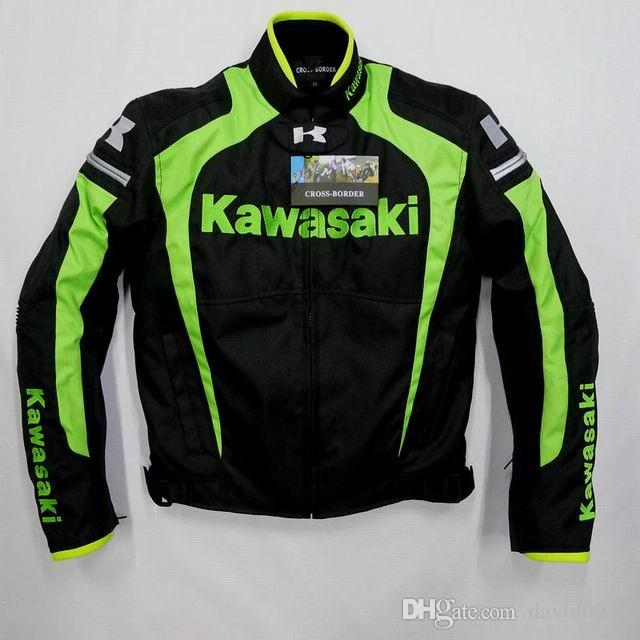 Men jacket KAWASAKI winter automobile race clothing motorcycle clothing thermal removable liner flanchard