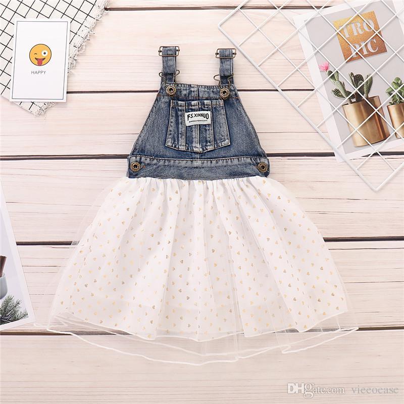 99b502474d 2019 Vieeoease Girls Dress Christmas Flower Kids Clothing 2019 Summer  Fashion Sleeveless Bow Denim Princess Party Dress EE 1433 From Vieeoease