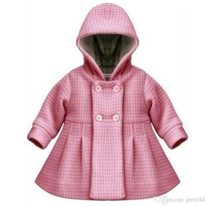 60caf5253 Thick Button Hooded Outwear 2018 New High Quality Fashion Baby Coat ...