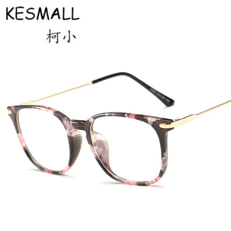 f4b8e17d6 Compre KESMALL Novos Óculos De Verão Das Mulheres Dos Homens De Moda Anti  Blue Ray Óculos Lente Transparente TR90 Óculos De Armação Marcos De Lentes  YL430 ...