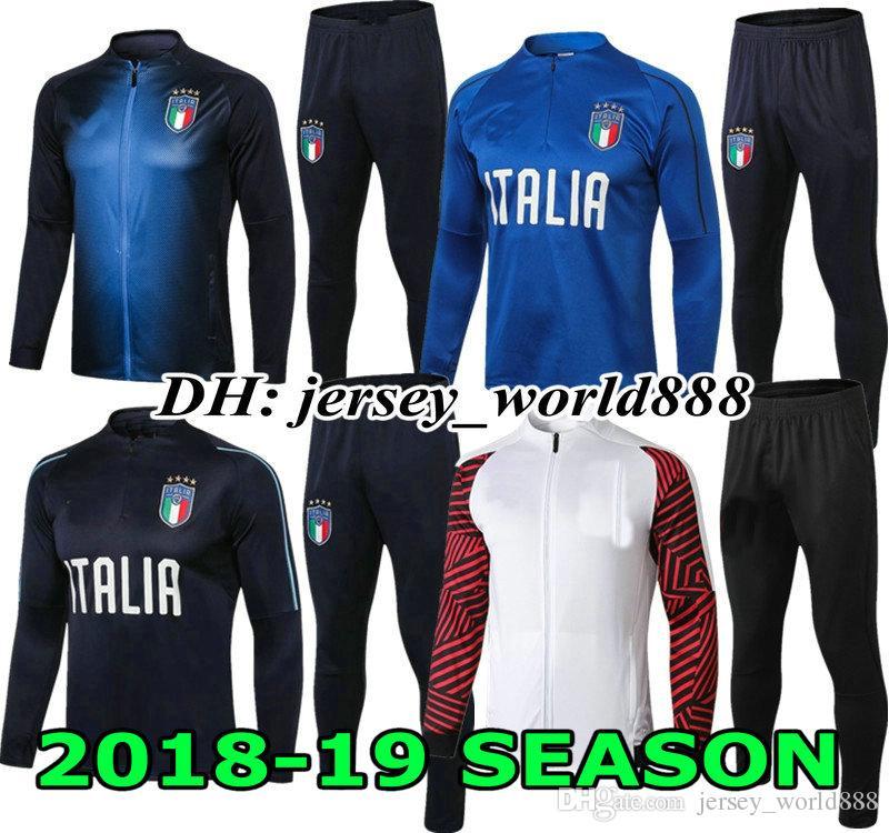 652163f1f653d PIRLO BONUCCI Kits De Trajes De Entrenamiento 18 19 Italia Camiseta ...
