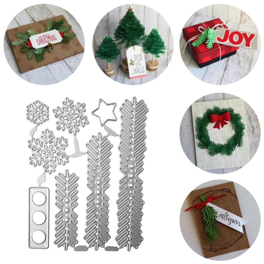 Compre Hojas De árboles De Navidad Relieve Plantillas De Troqueles