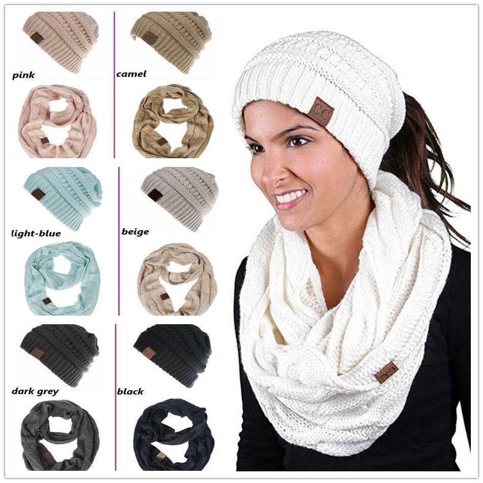 Compre Sombrero CC Conjuntos De Bufandas es Mujeres CC Sombreros De ...
