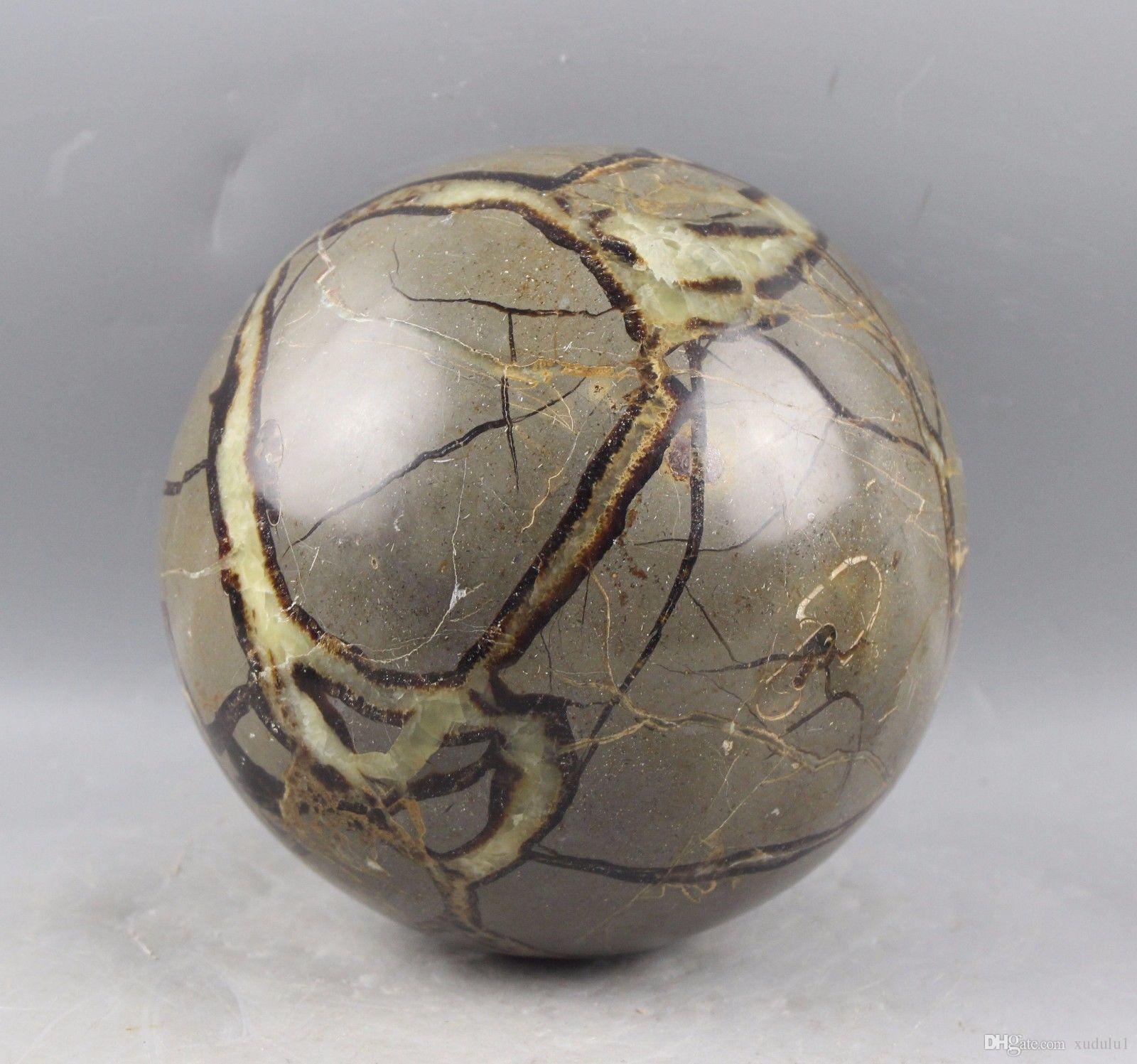 cerca de 500g bela Grande SEPTARIAN Quartz CRYSTAL Esfera Bola Fóssil
