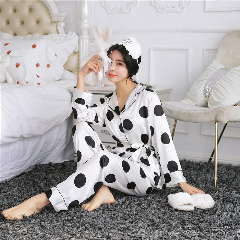 abf5f0cc5a4f Pajamas Sets Brand Full Length Pants + Sleeve Tops Two Pieces ...