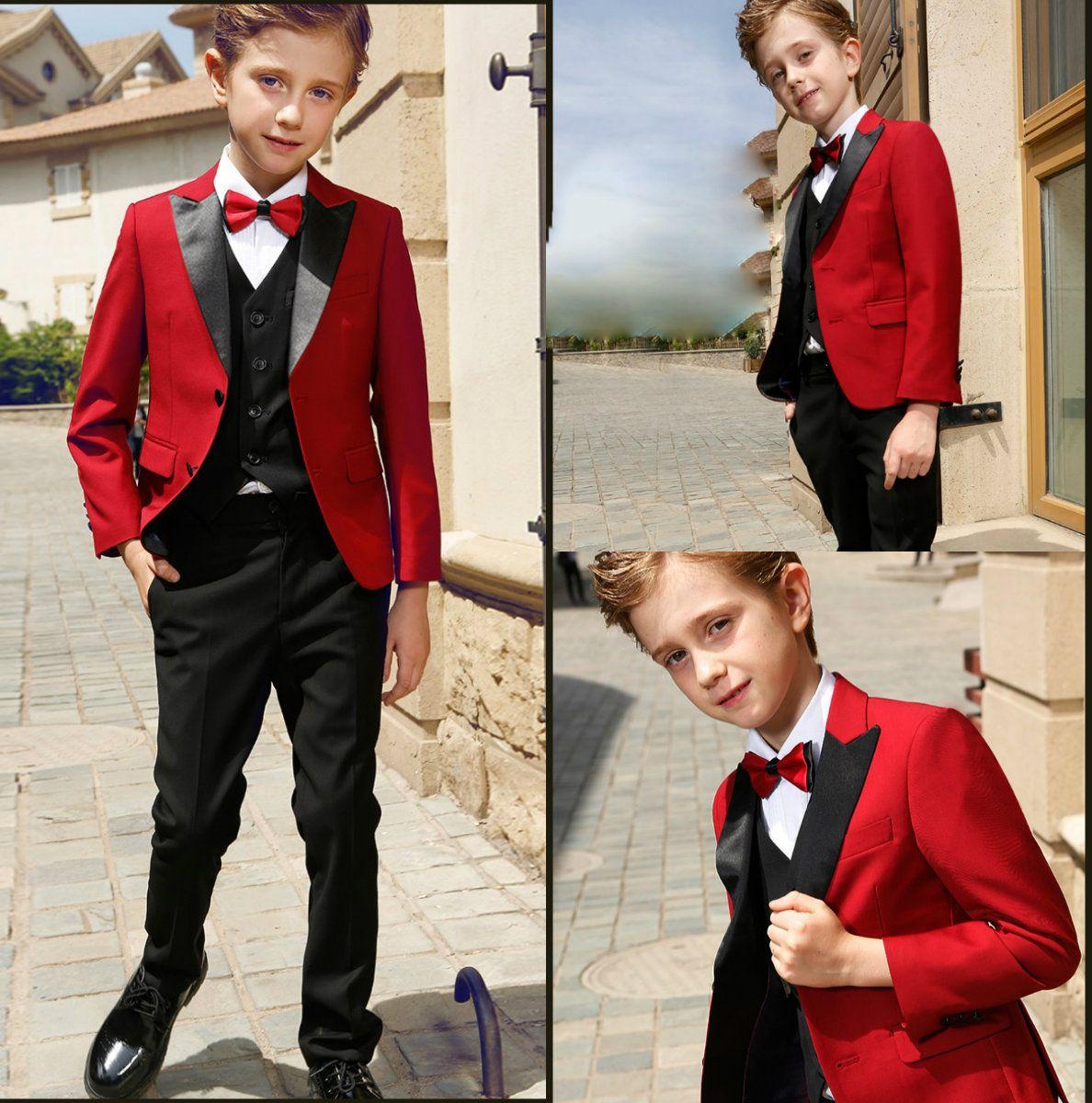 38505e4ccde Smart Teens Tuxedo Custom Made Boys Party Formal Pant Suits Dinner ...