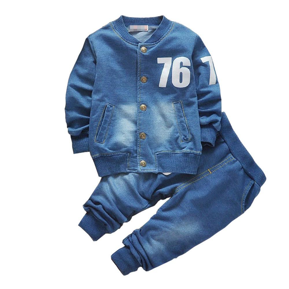 ab1043cef 2019 BibiCola Baby Boys Clothing Set Boys Suits Denim Jeans Coat Sets  Toddler Kids Casual Clothes Suit Children Clothing Set Y1892706 From  Shenping01, ...