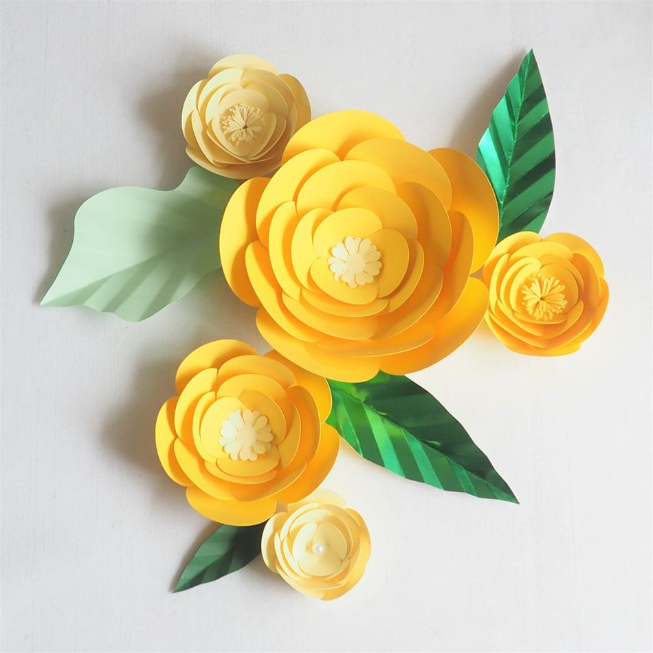 Diy Giant Paper Artificial Flowers Wedding Fleurs Artificielles