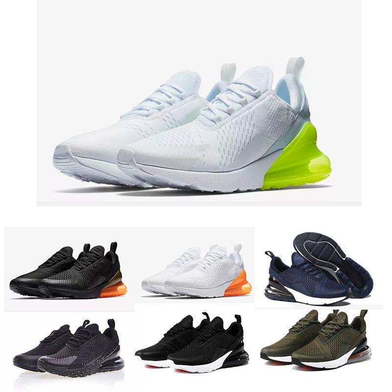 Scarpe Da Ginnastica Uomo Nike Air Max Nike 270 Shoes Supreme Off White  Vapormax 2018 270 Nuovi Arrivi Mens Bianco Nero Triple Nero AH8050 Trainer  Sport ... 5245af281f4